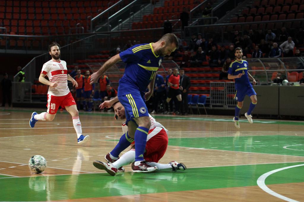 16f2fa7265 Kvalifikacije za SPFutsal reprezentacija BiH u Zenici 7 1 pobijedila  Švicarsku