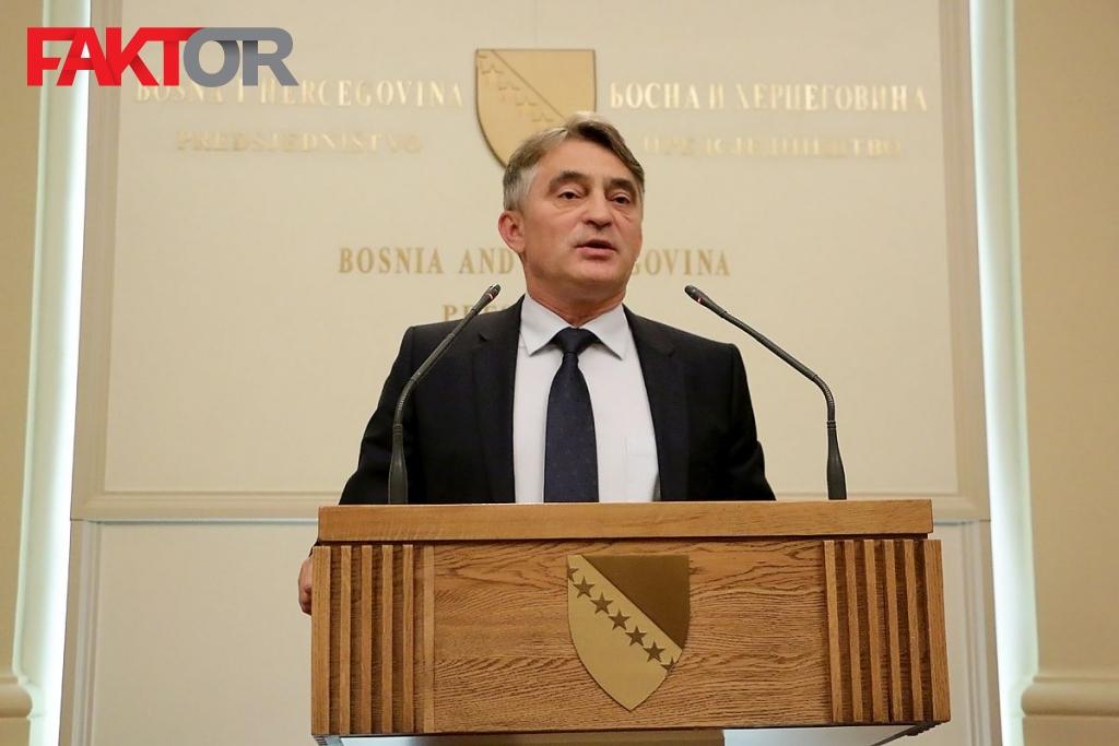 Željko Komšić o susretu generala OSBiH sa Draganom Čovićem
