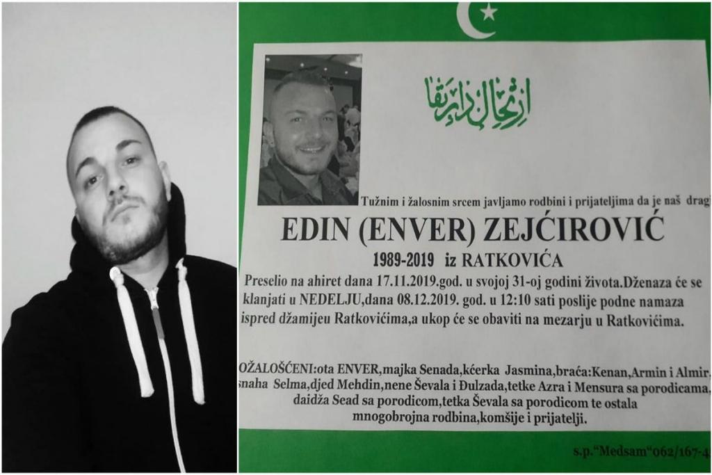 Sutra dženaza monstruozno ubijenom Edinu Zejćiroviću iz Čelinca