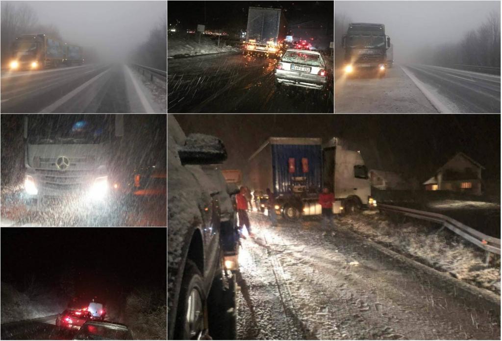 ZASTOJ NA NIŠIĆIMA - Sa prvim snijegom stigli i prvi problemi na cestama