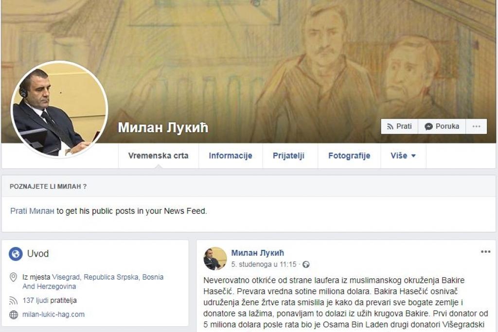 OSUĐEN NA DOŽIVOTNI ZATVOR ZBOG ZLOČINA NAD BOŠNJACIMA U VIŠEGRADU! Proziva preživjele žrtve i prikuplja donacije: Zločinac Milan Lukić ima Facebook profil!?