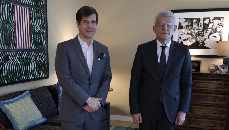 Džaferović i Nelson se sastali u Sarajevu: Razgovarali o predstojećoj 25. godišnjici potpisivanja Dejtonskog mirovnog sporazuma