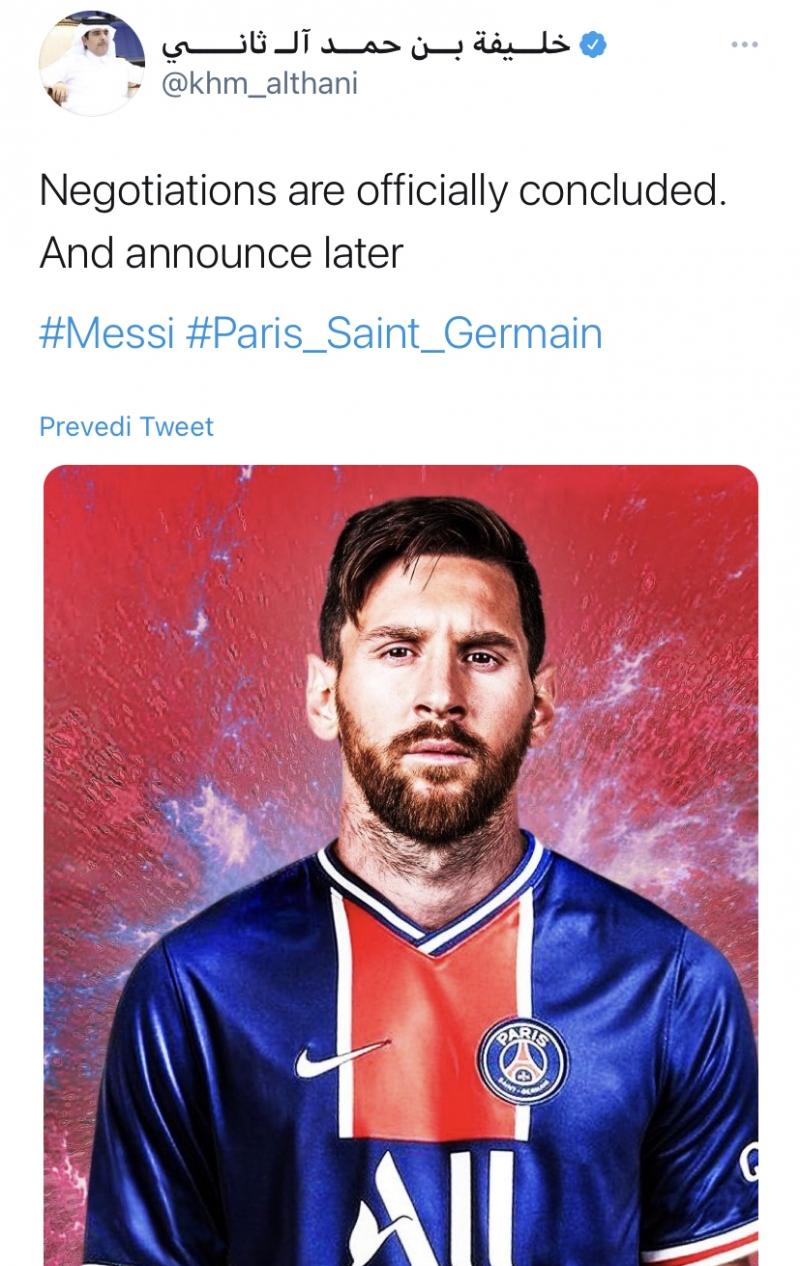 Vlasnik PSG-a Al Thani o dolasku Messija: Pregovori su završeni