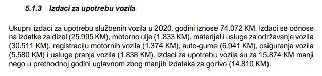 Izdaci za službena vozila Ministarstva finansija i trezora BiH