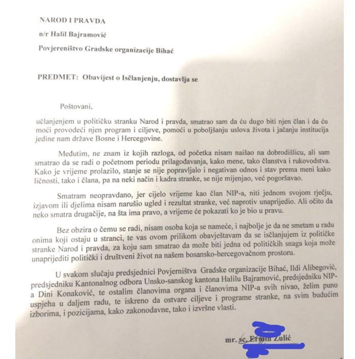 Ostavka Ermina Zulića/USN.ba