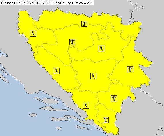Žuti meteoalarm