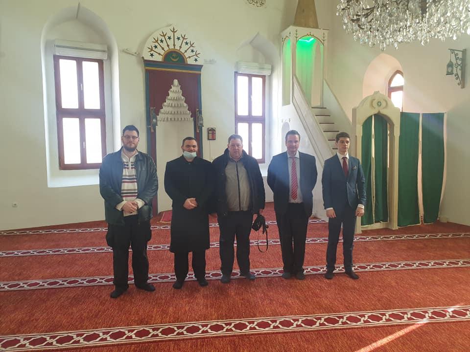 Lindemann u posjeti džamiji u Bihaću