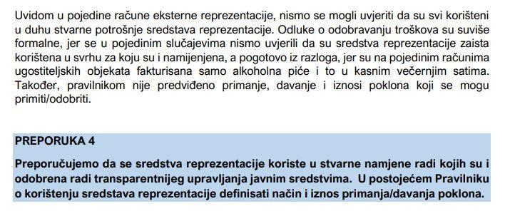 Nalaz revizora za Ministarstvo za ljudska prava i izbjeglice BiH